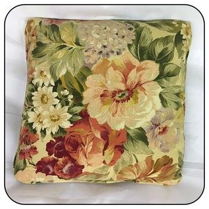 Two Floral Print Throw Pillows 15 X 15 Home Decor